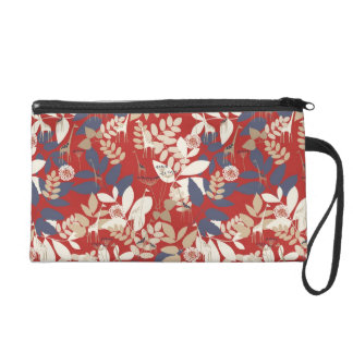 Floral with giraffe wristlet clutches