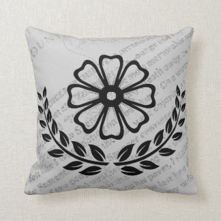 "Floral with Text - Polyester Pillow 16"" x 16"" Cushions"