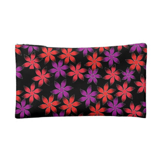 Floral world make up purse