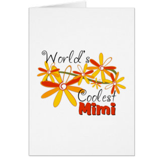 Floral World s Coolest Mimi Card