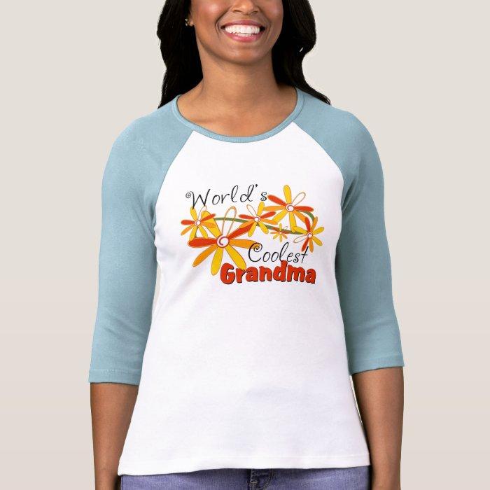 Floral World's Coolest Grandma T-Shirt