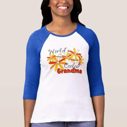 Floral World's Coolest Grandma T-Shirt