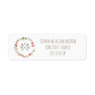 Floral Wreath - Address Labels