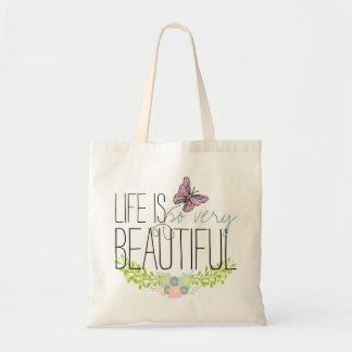 Floral Wreath and Butterfly BOHO Muslin Tote Bag