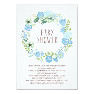 Floral Wreath | Baby Shower Invitation