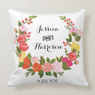 Floral Wreath Cushion