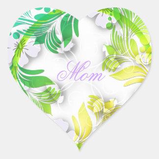 Floral Wreath Heart Sticker