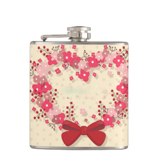 Floral Wreath Hip Flask