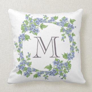 Floral Wreath Monogram Cushion