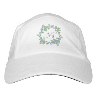 Floral Wreath Monogram Hat