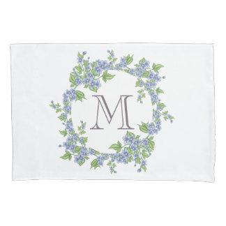 Floral Wreath Monogram Pillowcase