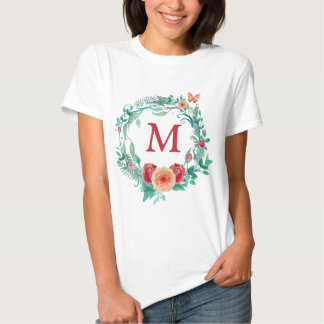 Floral Wreath Monogram Tshirt