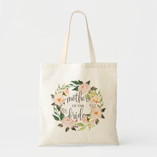 Floral Wreath, Mother of the Bride, Calligraphy-2 Tote