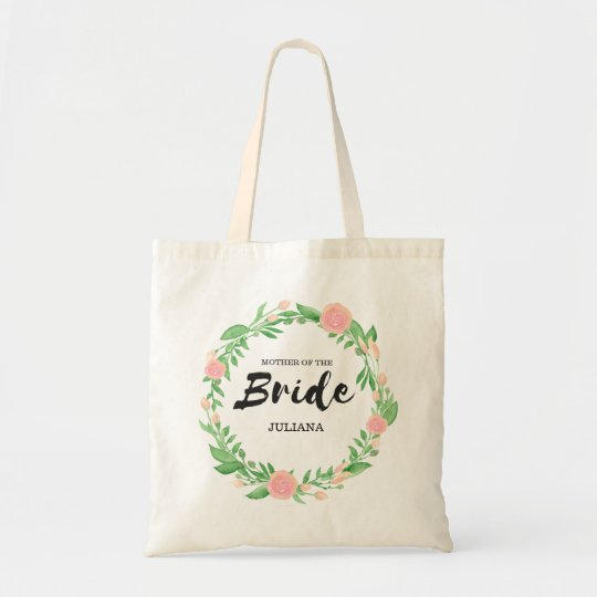 Floral Wreath Mother of the Bride Tote Bag
