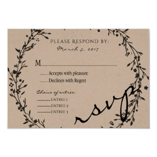 Floral Wreath RSVP Card