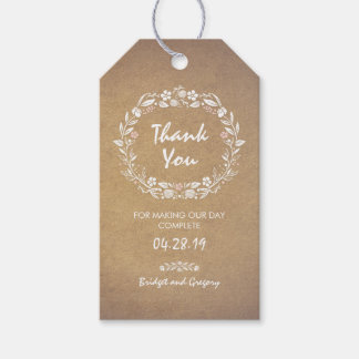 Wedding gift tags zazzle floral wreath wedding gift tags negle Image collections