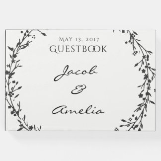 Floral Wreath Wedding Guestbook