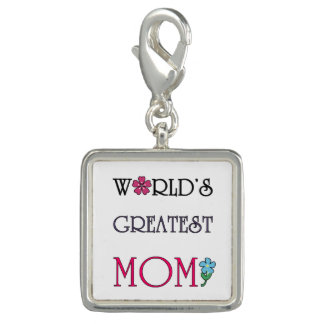 Floral Wreath World's Greatest Mom Charm