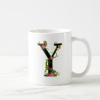 Floral Y Coffee Mug
