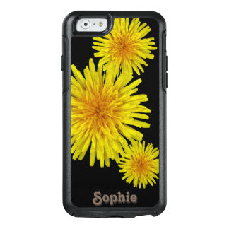 Floral Yellow Dandelions Custom Name OtterBox iPhone 6/6s Case