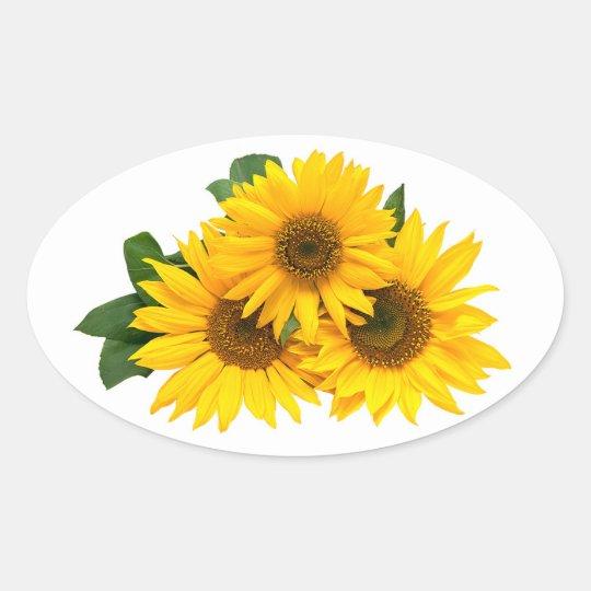 Floral Yellow Sunflower Flower Stickers