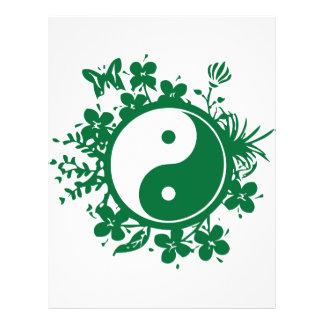 Floral Yin Yang Flyer Design