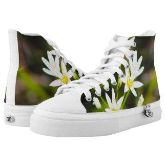 Floral Zipz High Top Shoes