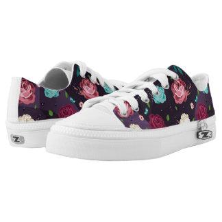 Floral Zipz Low Top Shoes, US Men 4 / US Women Printed Shoes