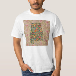 Floralbama Alabama State Floral borders T-Shirt