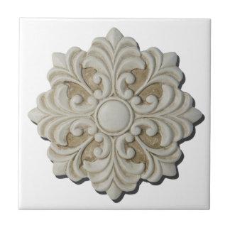 FloralDecorativeMedallion061615.png Small Square Tile