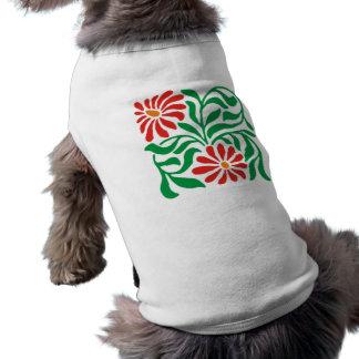 florales sample flowers floral pattern flowers sleeveless dog shirt
