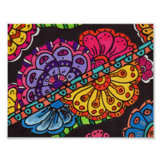 Florality Abstract Art Mini Poster