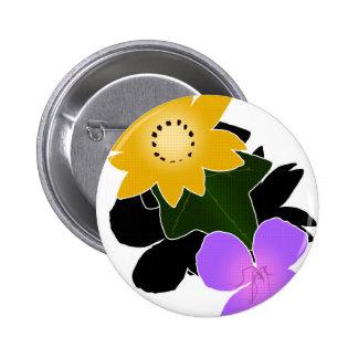 Florally 6 Cm Round Badge