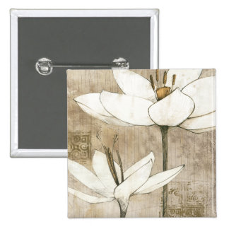 Florals Drawn by Pencil 15 Cm Square Badge
