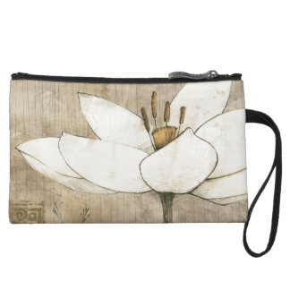 Florals Drawn by Pencil Wristlet
