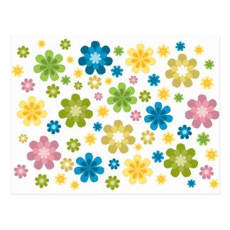 Florals - hippie design post card