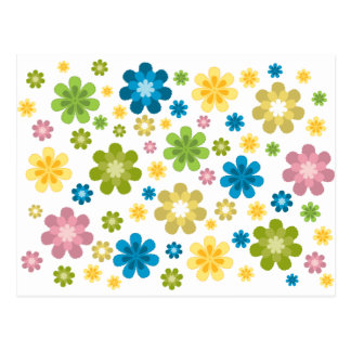 Florals - hippie design postcard