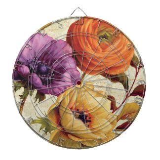 Florals in Full Bloom Dart Boards