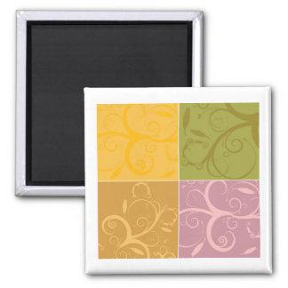 Florals Square Magnet