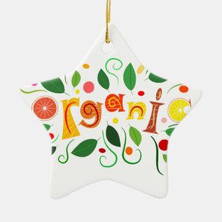 Floramentina - organic art christmas ornament