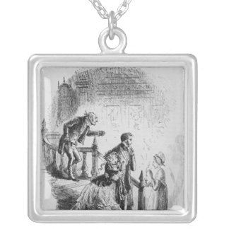 Flora's tour of inspection silver plated necklace