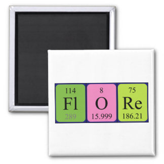 Flore periodic table name magnet