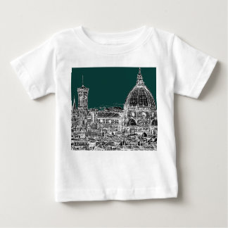 Florence architecture drawing tee shirt