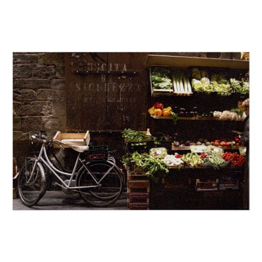 Florence Bike by Vegies Poster