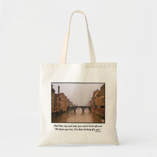 Florence Bridge With Love Quote Canvas Bags