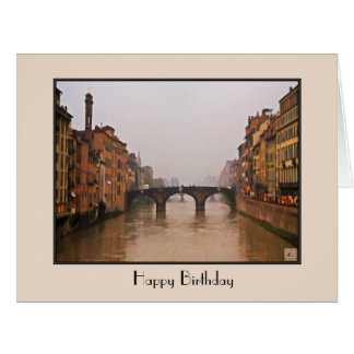Florence Bridge With Love Quote Large Greeting Card