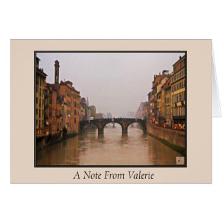 Florence Bridge With Love Quote Stationery Note Card