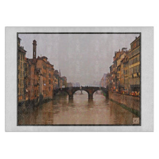Florence Bridge With Love Quote Cutting Board