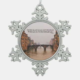 Florence Bridge With Love Quote Ornaments