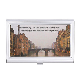 Florence Bridge With Love Quote Business Card Holder